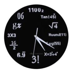 Math Class Algebra Mathematical Formula Wall Clock Acrylic