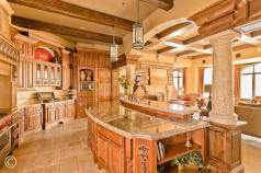 Mediterranean Kitchen Exposed Beam Shaped
