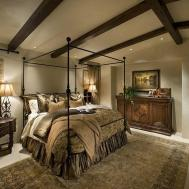 Mediterranean Master Bedroom Wall Carpet