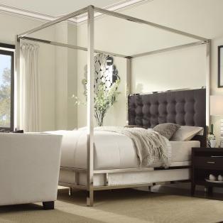 Mercer41 Upholstered Canopy Bed