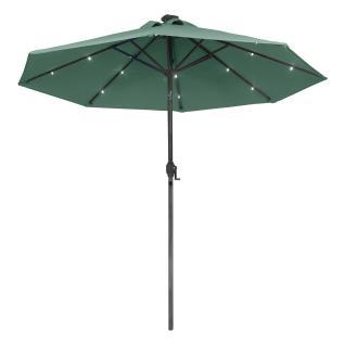Metal Garden Umbrella Led Lights Crank Tilt
