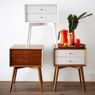 Mid Century Bedside Table White West Elm