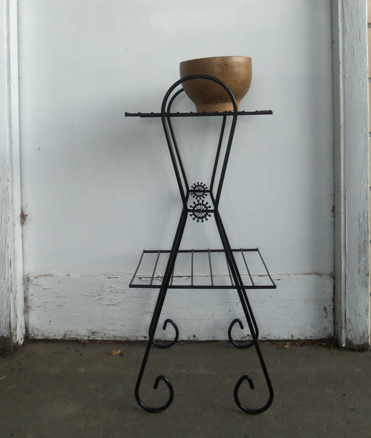Mid Century Modern Metal Wire Plant Stand Side Table Decoratorist 25421