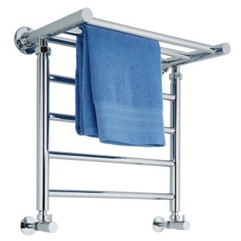 Milano Pendle Chrome Heated Towel Rail Shelf