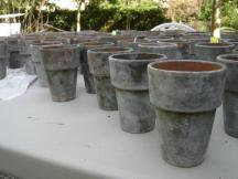 Milk Painted Terra Cotta Pots