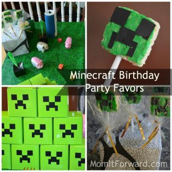 Minecraft Party Favors Cake Ideas Designs