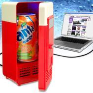 Mini Usb Fridge Cooler Warmer Gadget Drink Cans Refrigerator