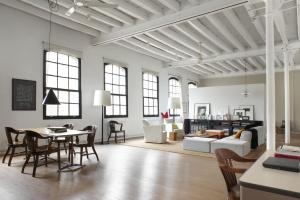 Minimal Bedroom Design New York Industrial Loft Style