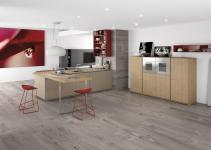 Minimalist Kitchen Red Accents Comprex
