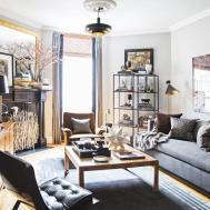 Minimalist Square Coffee Table Masculine Living Room