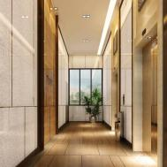 Minimalist Style Hotel Elevator Corridor Design