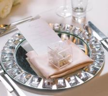 Mirror Chargers Trendy Clear Charger Plate