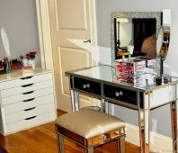 Mirror Wood Bedside Table Best Nightstand White