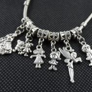Mixed Tibetan Silver Girl Boy Charms Pendant Beads