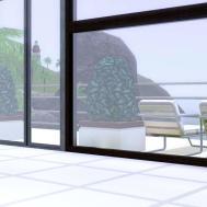 Mod Sims Breezy White Modern Natural Beach Home 3br