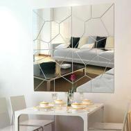 Modern 7pcs Mirror Geometric Hexagon Acrylic Wall