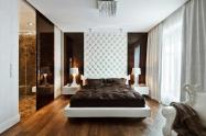 Modern Apartment Design White Brown Bedroom Kenholt