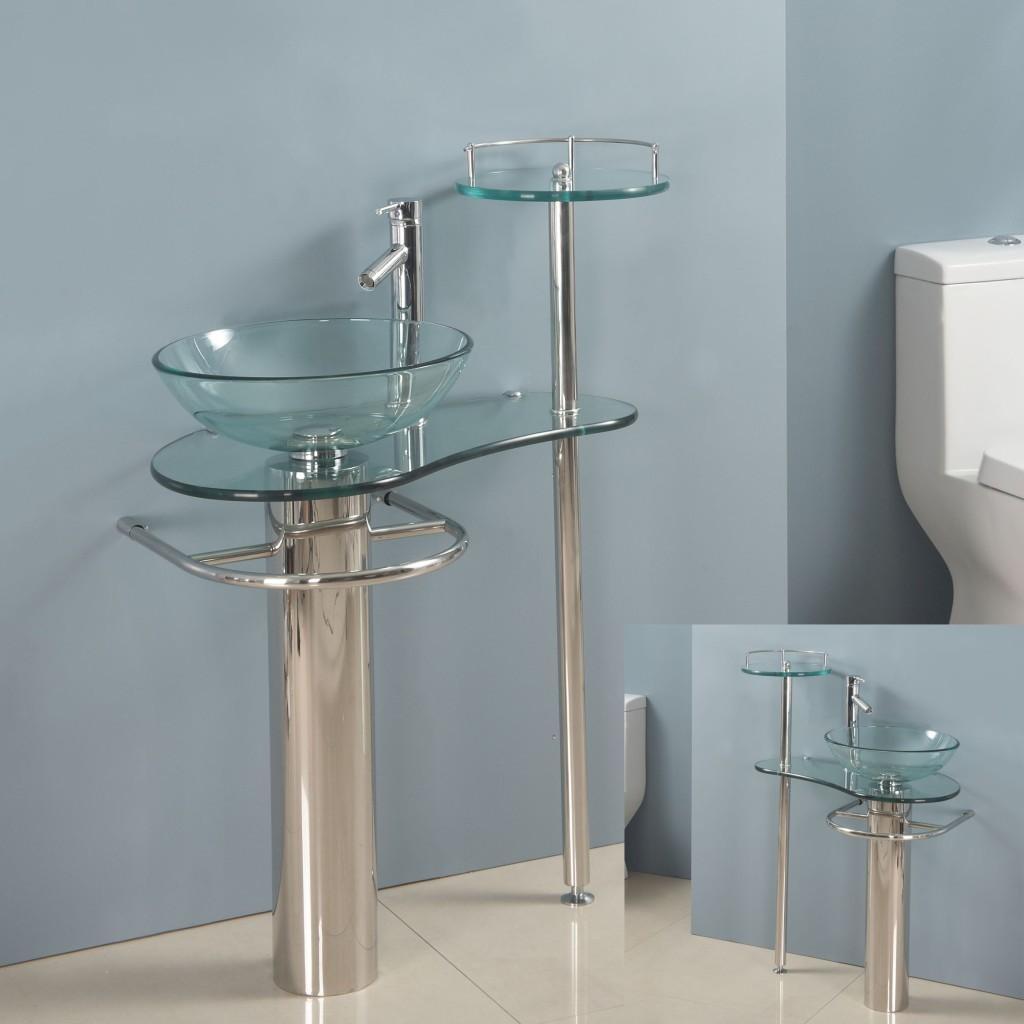 Home Garden Bathroom Contemporary Bathroom Vanity Pedestal Glass Bowl Vessel Sink Cb014 Bathroom Sinks