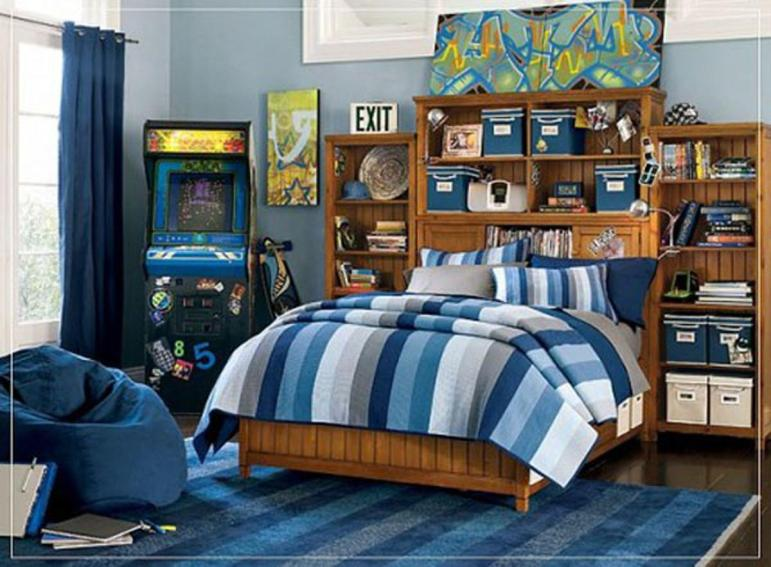 Modern Blue Color Scheme Boys Kids Bedroom Iroonie
