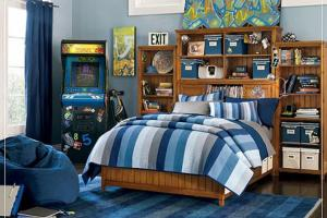 Modern Blue Color Scheme Boys Kids Bedroom Iroonie