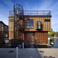 Modern Cabinet Floating Homes Lake Union Float Home