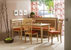 Modern Corner Bench Breakfast Kitchen Nook Dining Set
