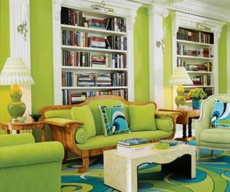 Modern Furniture Green Living Room Design Ideas 2011