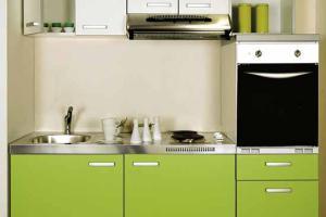 Modern Green Colours Small Kitchen Interior Design Ideas