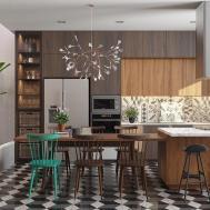 Modern Kitchen Designs Unconventional Geometry