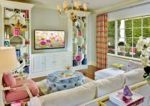 Modern Living Room Design Feminine Themes