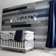 Modern Navy Grey Rustic Nursery Project