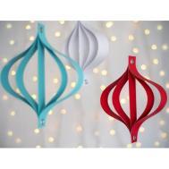 Modern Paper Ornaments Diy Christmas Decorations Kids