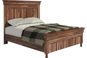 Modern Rustic Solid Wood Bed Frame Headboard Footboard