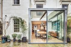 Modern Steel Glass Rear Extension Victorian Semi