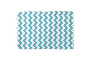 Modern Teal Blue White Chevron Zigzag Pattern Kitchen
