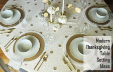 Modern Thanksgiving Table Setting Ideas