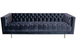 Modern Tufted Velvet Sofa Sale 1stdibs
