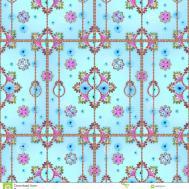 Modern Victorian Style Seamless Pattern Stock Illustration