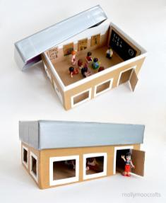 Mollymoocrafts Back School Crafts Shoebox