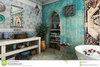 Moroccan Bathroom Stock Carpet Kettle