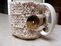 Mug Cozy Pattern Twisted Fibers Designs