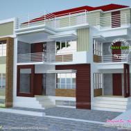 Multi Family Plex Home Plan Kerala Design