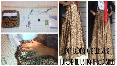 Nadira037 Diy Long Circle Skirt Tutorial Part Using