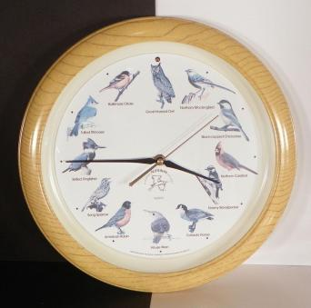 National Audubon Society Singing Bird Wall Clock Wood