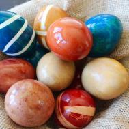 Natural Easter Egg Dye Girl Curly Hair