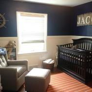 Nautical Boy Orange Navy Nursery Project