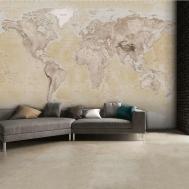 Neutral World Map Feature Wall Mural 315cm 232cm