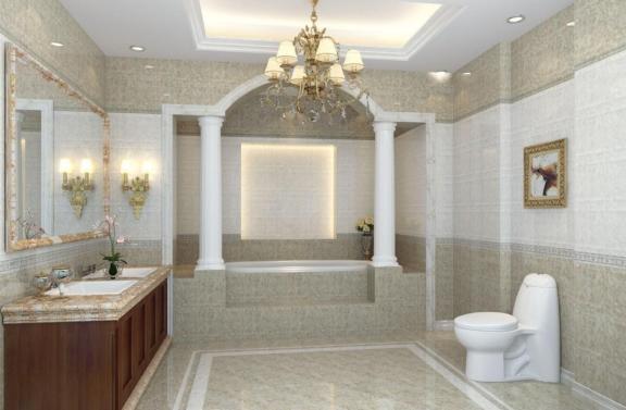 New Classical Bathroom Chandeliers Column House