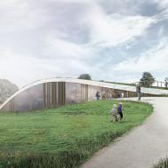 New Skamlingsbanken Visitor Center Nestled Under Softly