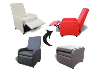 New Smart Stool Gaming Study Reclining Fold Arm Chair